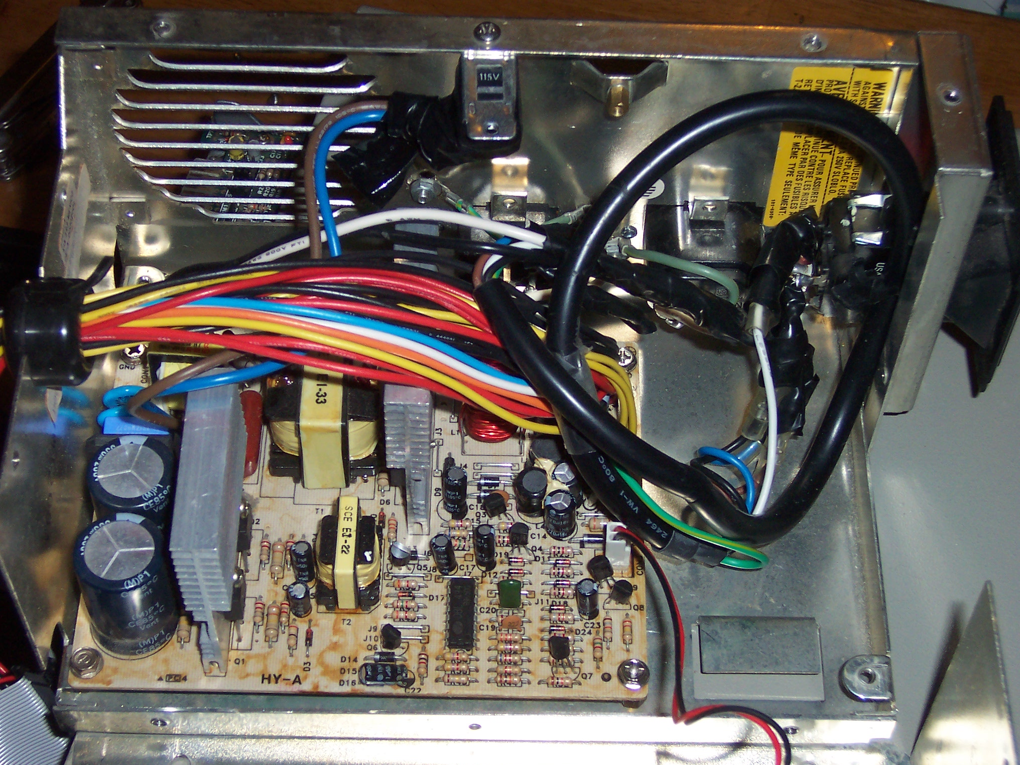 5150 Power Supply Repair Archive Vintage Computer Forum Pc Wiring Diagram Pinout 24 Pin Color